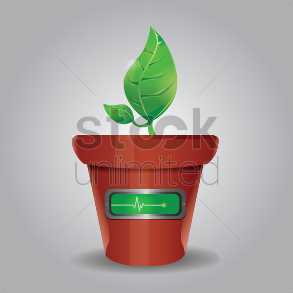potted palnt vector graphic