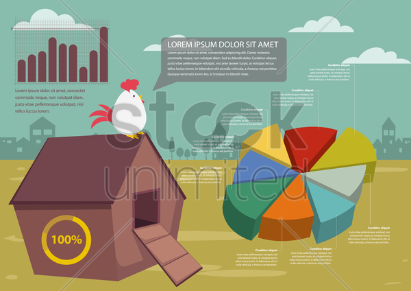 poultry infographic vector graphic