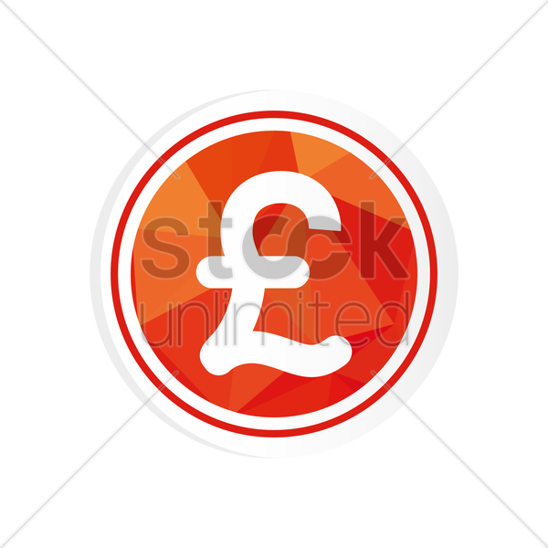 Free pound sterling coin vector graphic
