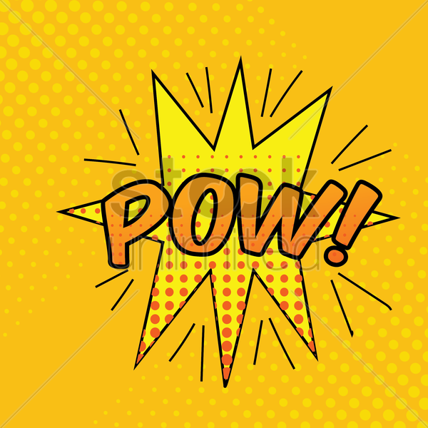 pow comic speech bubble vector graphic