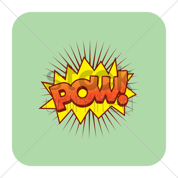 pow comic speech vector graphic