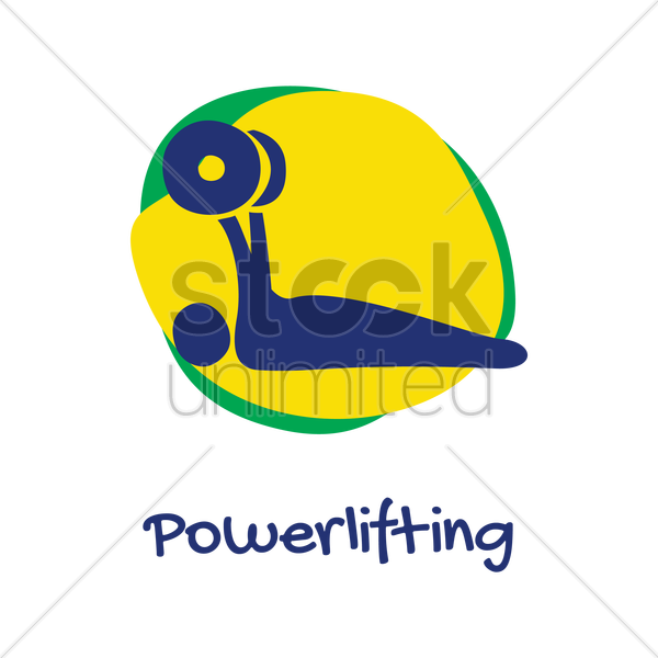 powerlifting icon vector graphic