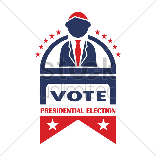 presidential election label vector graphic