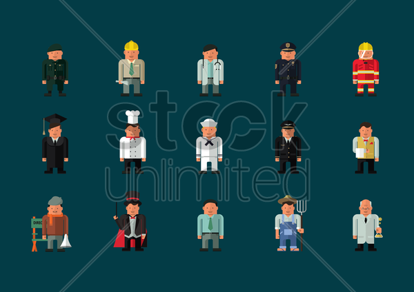professional people vector graphic