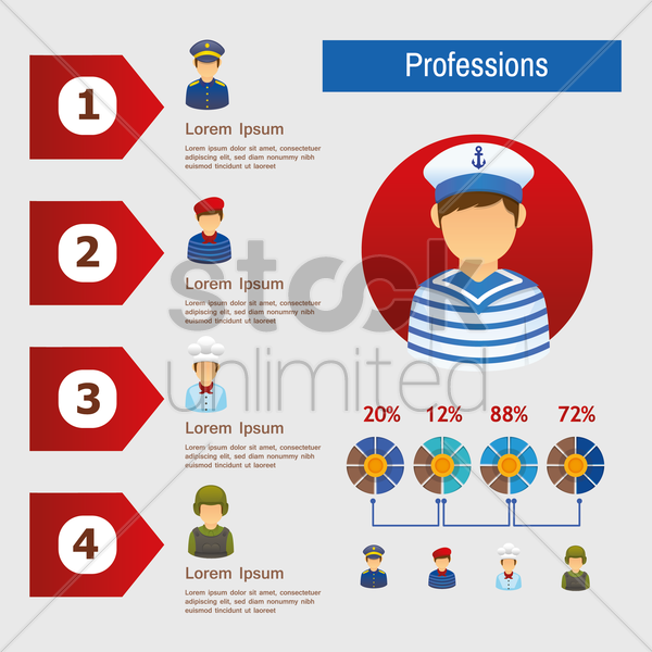 professions vector graphic