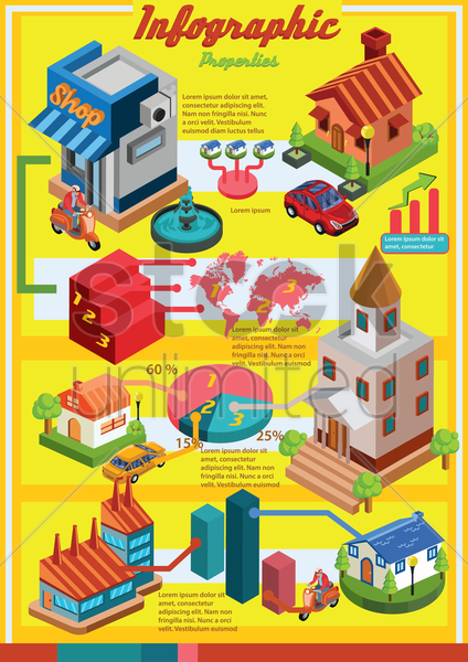 properties infographic vector graphic