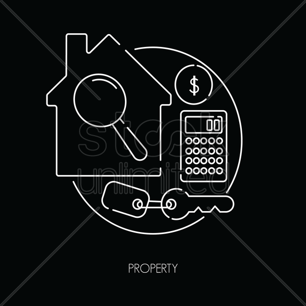 property icons vector graphic
