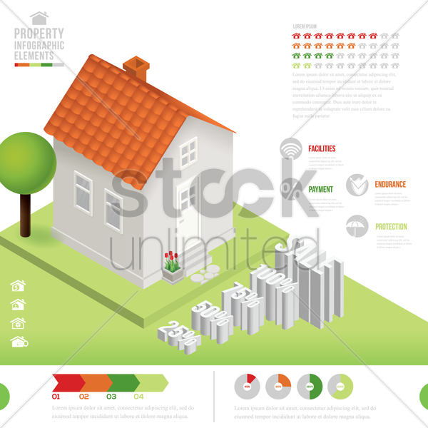 property infographic elements vector graphic