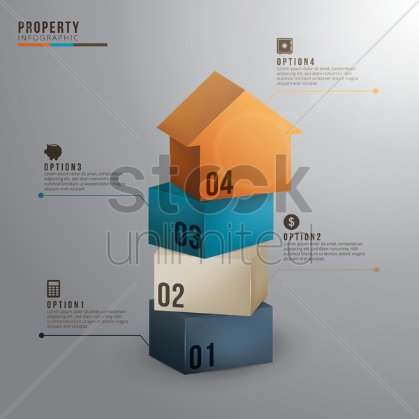 property infographic vector graphic