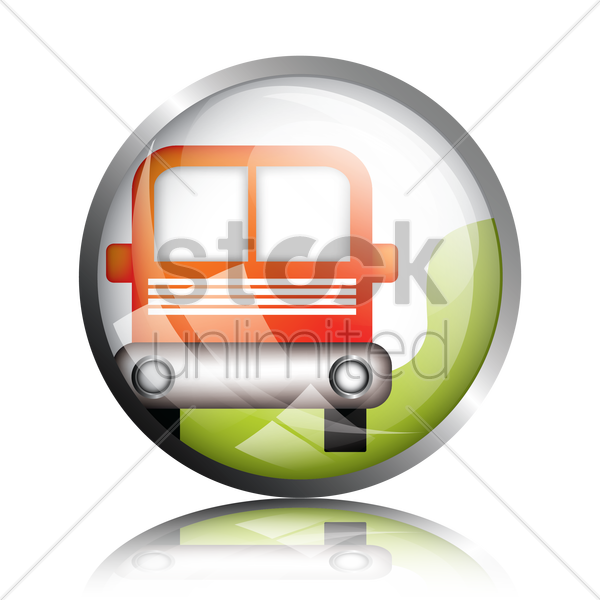 public transport icon vector graphic