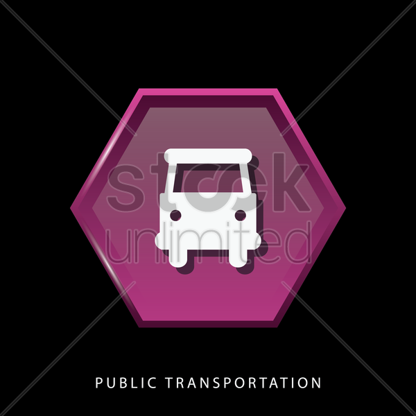 public transportation icon vector graphic