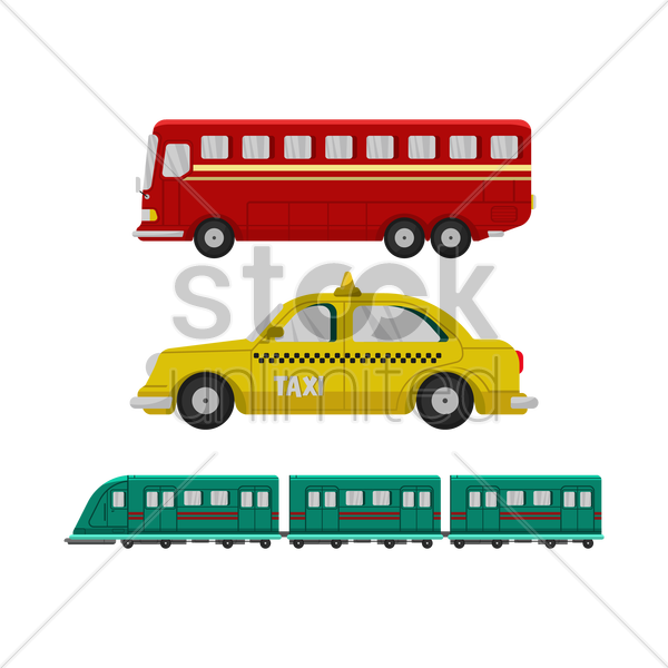 public transports vector graphic