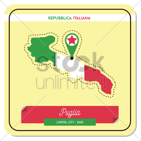 puglia map vector graphic