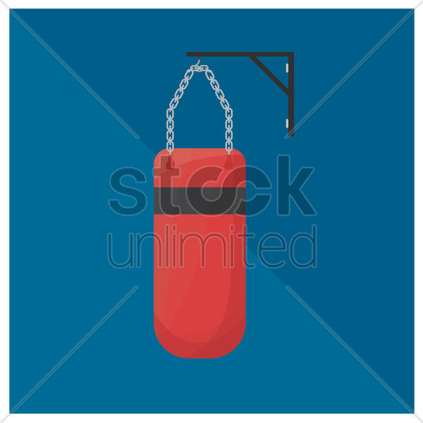 punching bag vector graphic