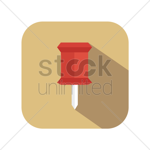 push pin vector graphic