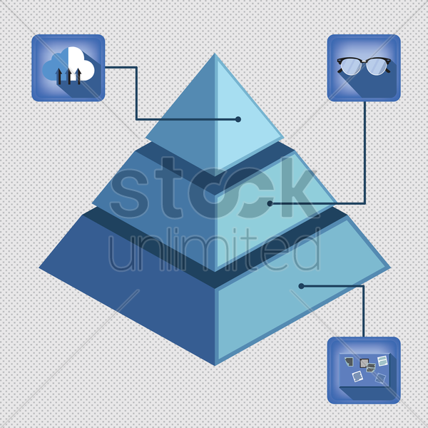 pyramid infographic vector graphic