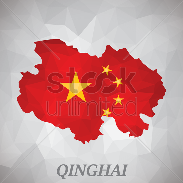 qinghai map vector graphic