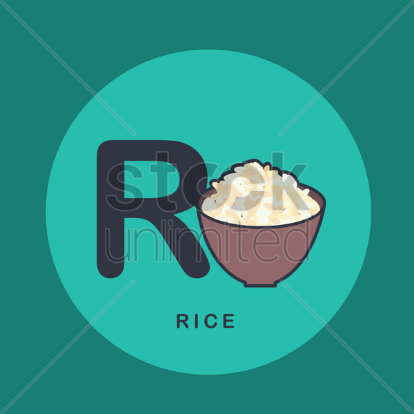 Free r for rice. vector graphic