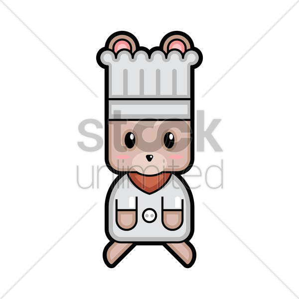 rabbit chef vector graphic