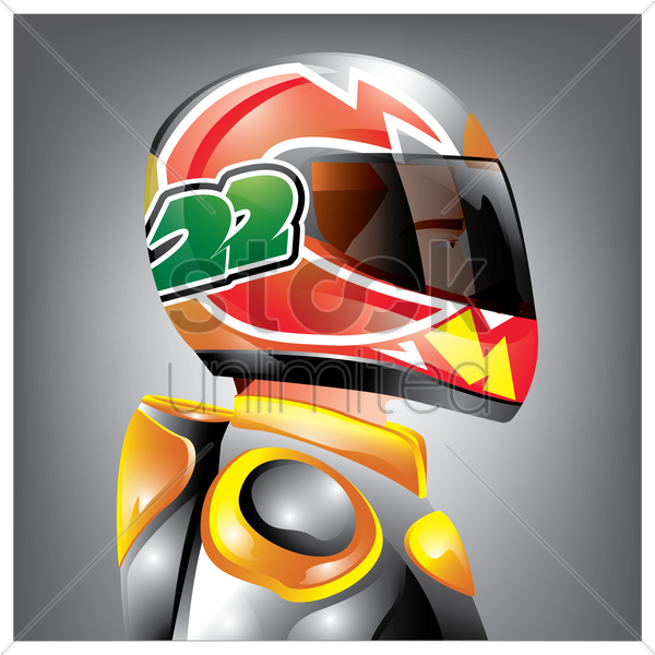 racer vector graphic