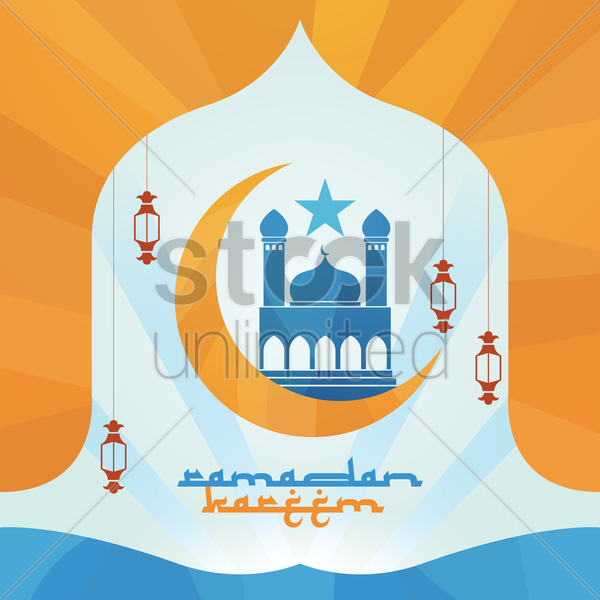 ramadan kareem greeting vector graphic