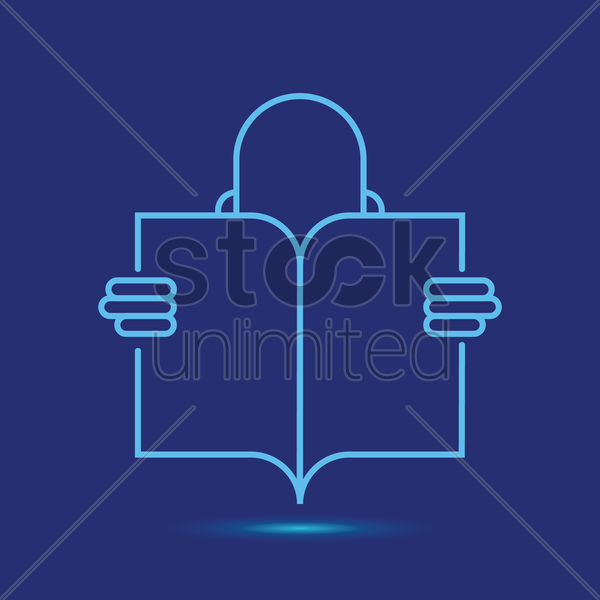 reading book icon vector graphic
