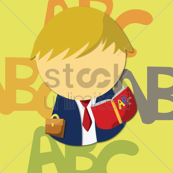 reading kid vector graphic