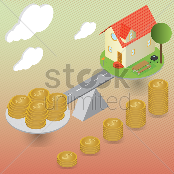 real estate concept vector graphic