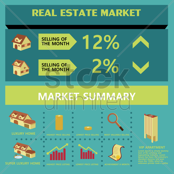 real estate market vector graphic