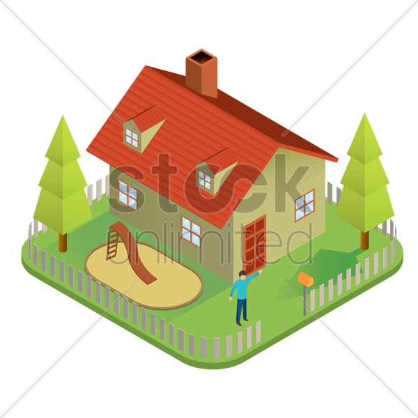 real estate vector graphic