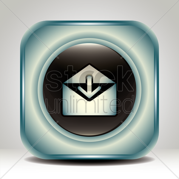 receive mail icon vector graphic
