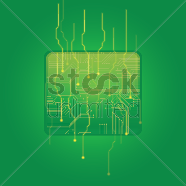 rectangle shape circuit vector graphic