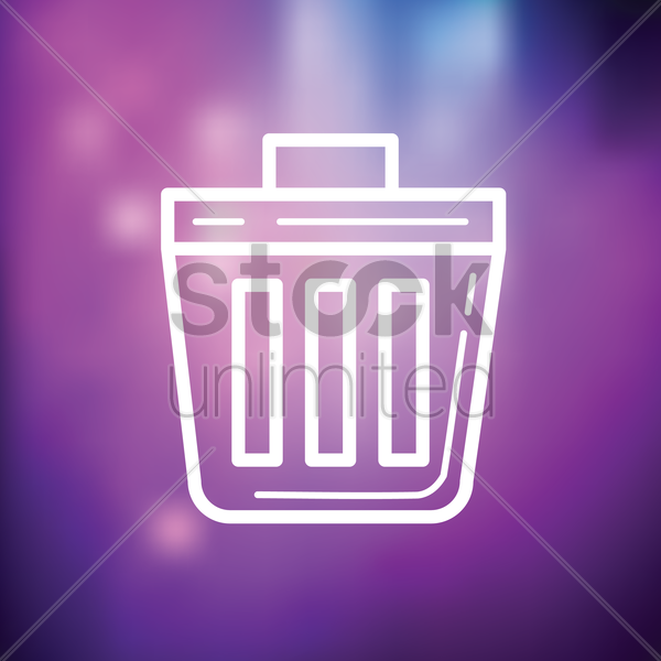recycle bin icon vector graphic