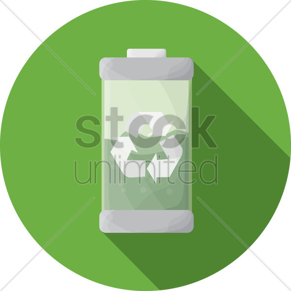 Free recycle bin vector graphic