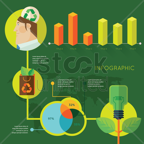 recycle idea infographic vector graphic