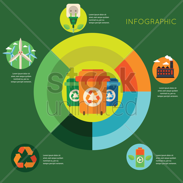 recycle infographic vector graphic