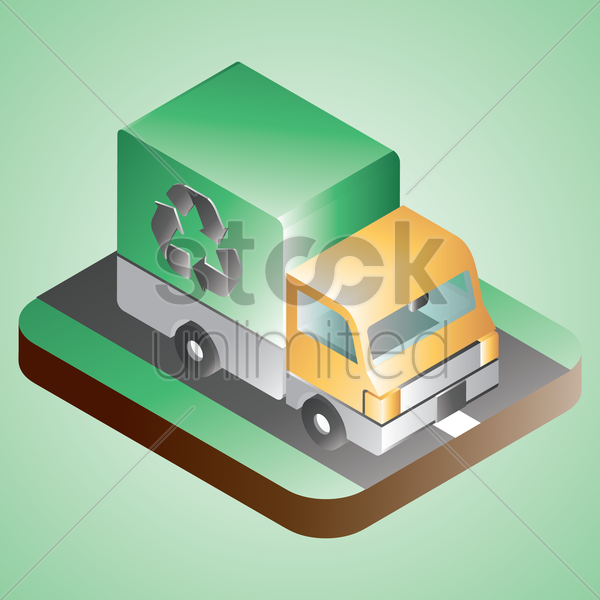 recycle truck vector graphic