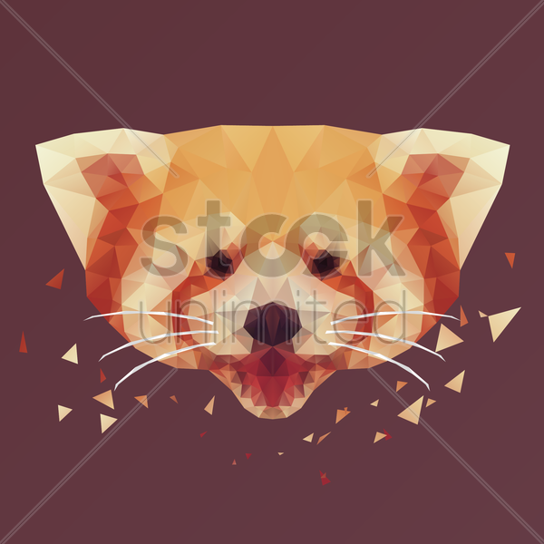Free red panda vector graphic