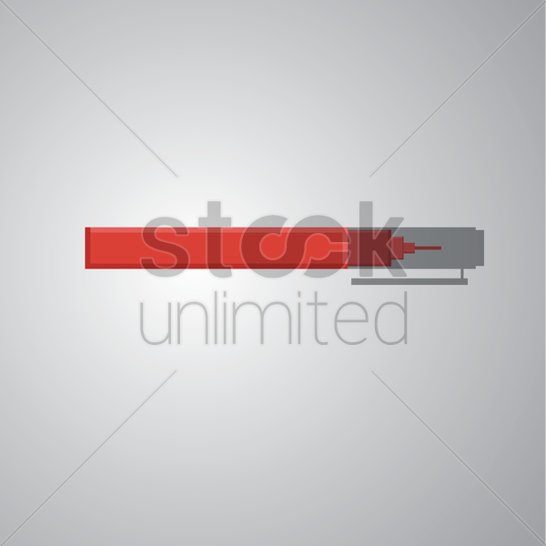 red pen on grey background vector graphic