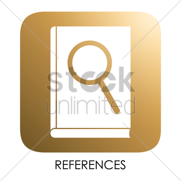 references icon vector graphic