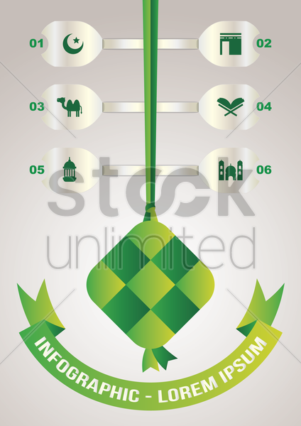 religious infographic vector graphic