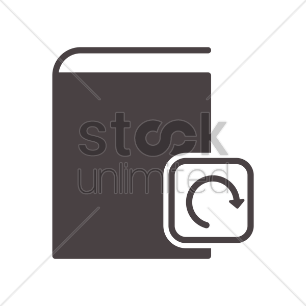 reload book icon vector graphic