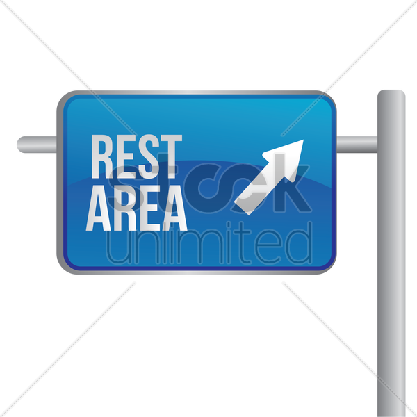rest area signboard vector graphic
