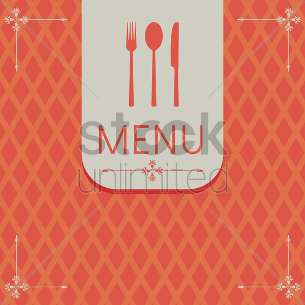 restaurant menu vector graphic