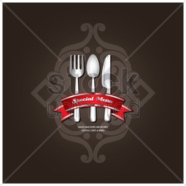 restaurant special menu design vector graphic