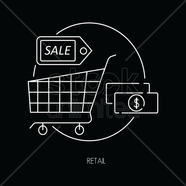 retail icons vector graphic