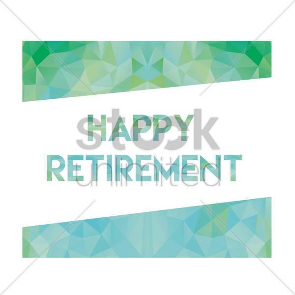 retirement greeting vector graphic