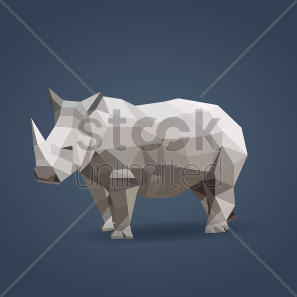 rhinoceros vector graphic
