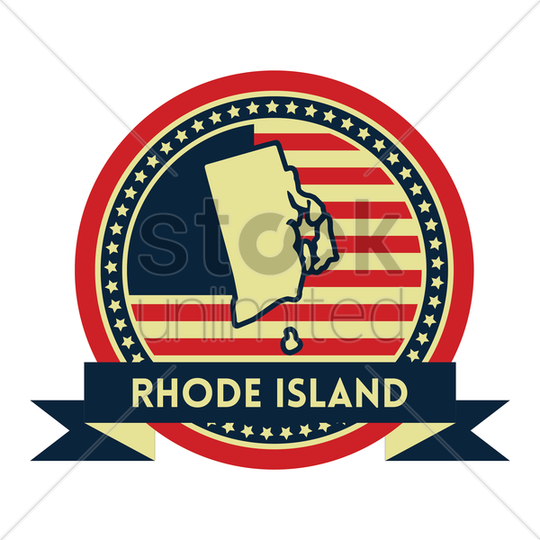 Free rhode island map label vector graphic