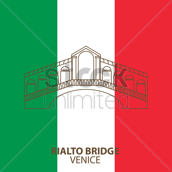 rialto bridge vector graphic